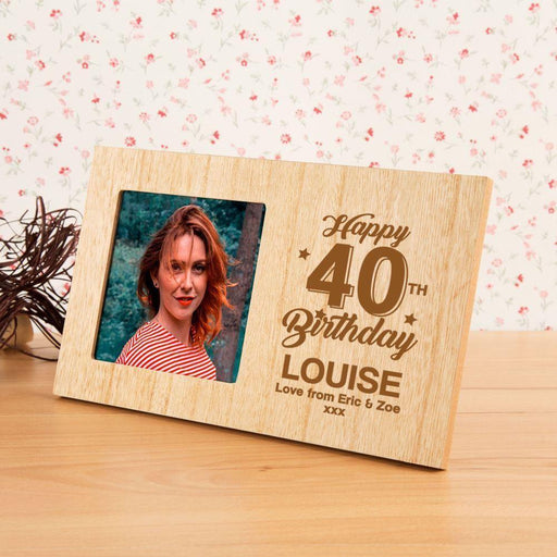 Personalised 40th Birthday Photo Frame