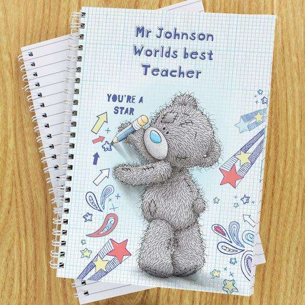 Personalised Me to You Teacher A5 Notebook from Pukkagifts.uk