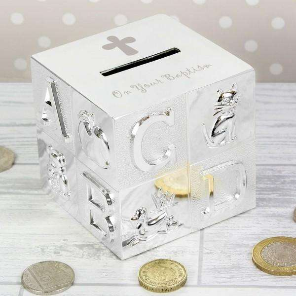 Baptism ABC Money Box from Pukkagifts.uk