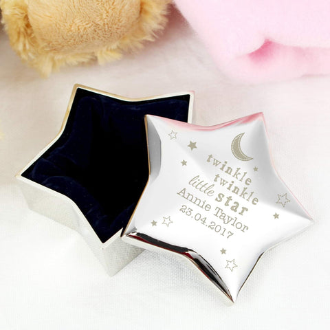 Personalised Twinkle Twinkle Star Trinket Box from Pukkagifts.uk