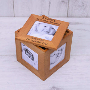 Personalised Mummy Our 1st Mothers Day Together Photo Box Cube from Pukkagifts.uk