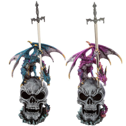 Sword Master Dark Legends Dragon Skull Figurine