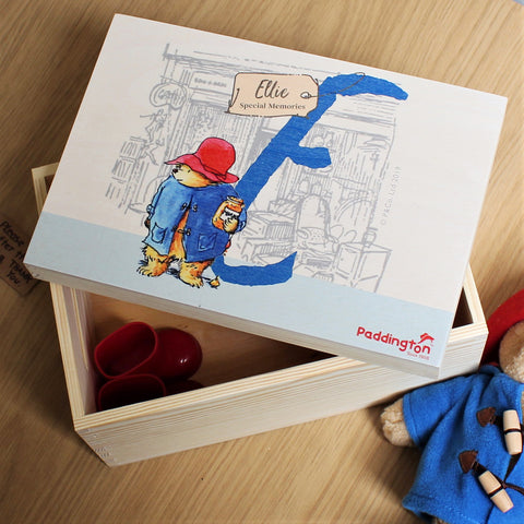 Personalised Paddington Bear Memory Box