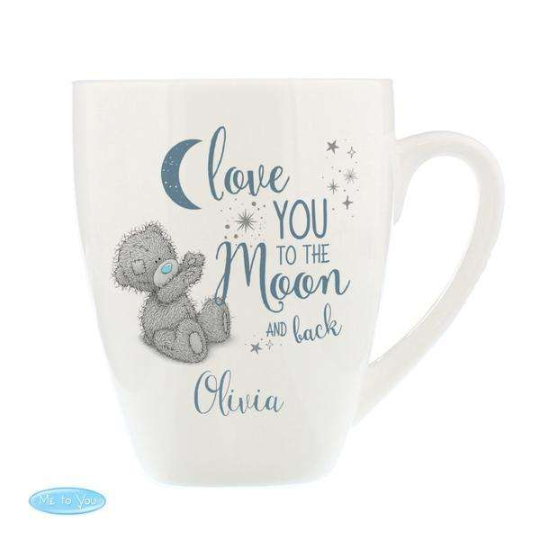 Personalised Me to You 'Love You to the Moon and Back' Latte Mug from Pukkagifts.uk