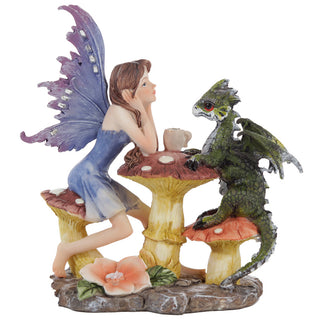 Woodland Spirit Fairy Figurine - Dragon Tea Party