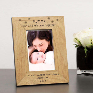 Personalised Mummy Our 1st Christmas Together Photo Frame from Pukkagifts.uk