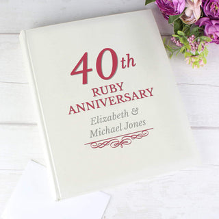 Personalised 40th Ruby Anniversary Traditional Photo Album