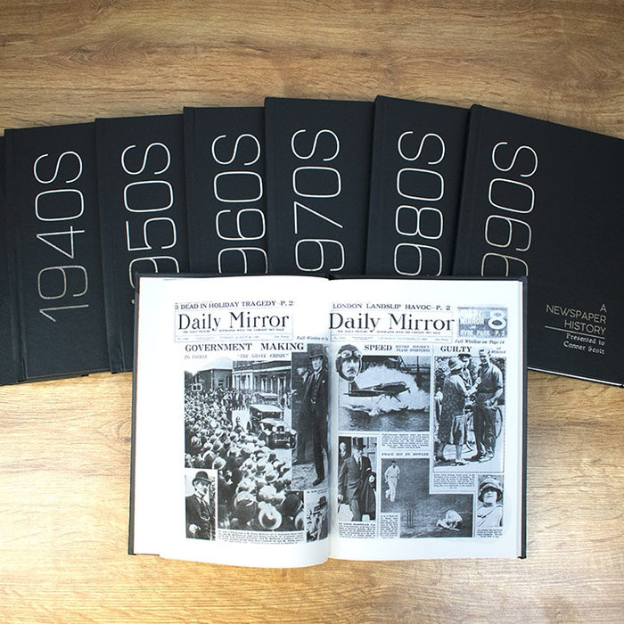 Personalised Hardback Decade Newspaper Book