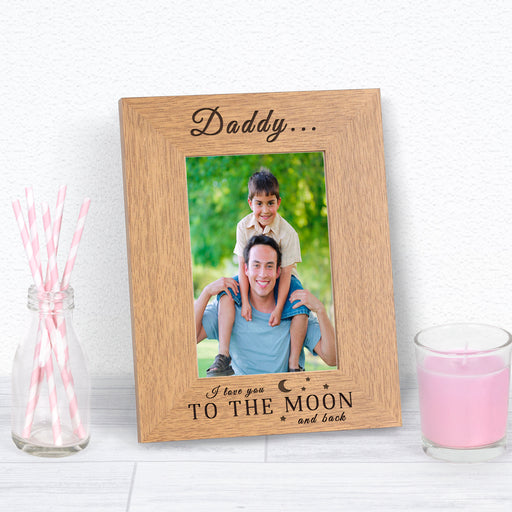 Personalised I Love You To The Moon And Back Photo Frame from Pukkagifts.uk