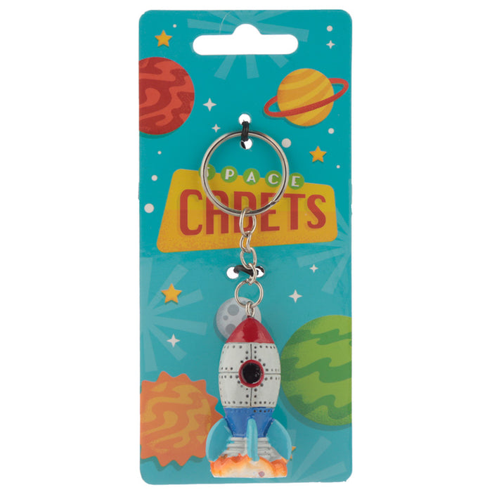 Space Rocket Keyring from Pukkagifts.uk