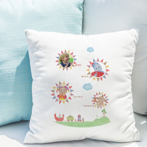 Personalised In The Night Garden Colouring Book Photo Cushion