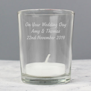 Personalised Votive Candle Holder