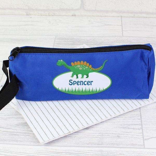 Personalised Dinosaur Pencil case from Pukkagifts.uk
