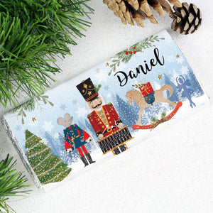Personalised Nutcracker Christmas Milk Chocolate Bar