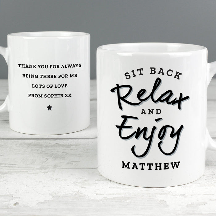 Pesonalised Sit Back & Relax Mug