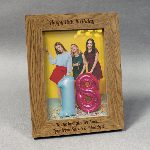 Personalised Wooden 8×10 Photo Frame