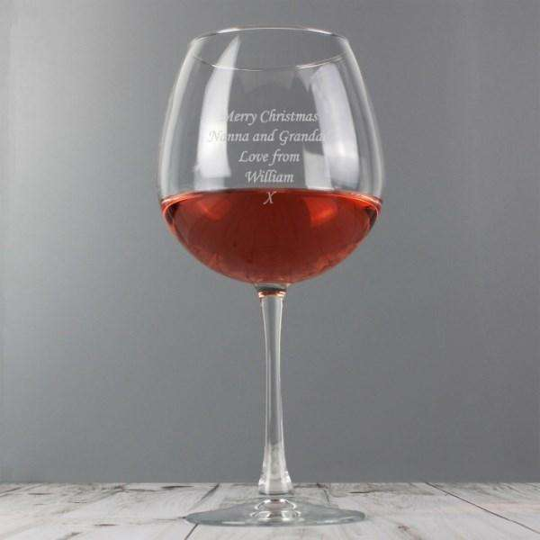 Personalised Bottle of Wine Glass from Pukkagifts.uk