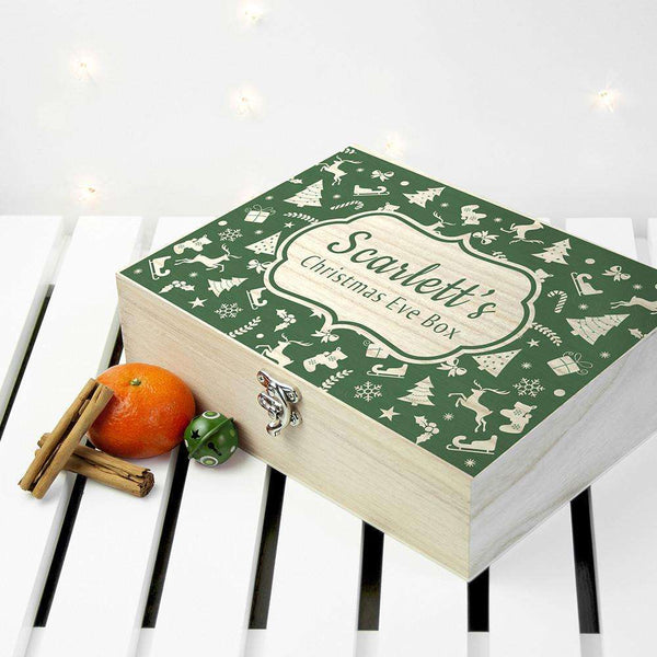 Personalised Christmas Eve Box With Festive Pattern from Pukkagifts.uk