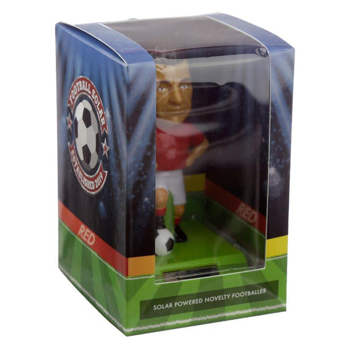 Red Shirt Footballer Solar Powered Dashboard Toy