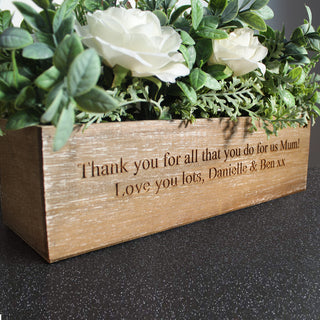 Personalised Artificial Flower Box - Free UK Delivery