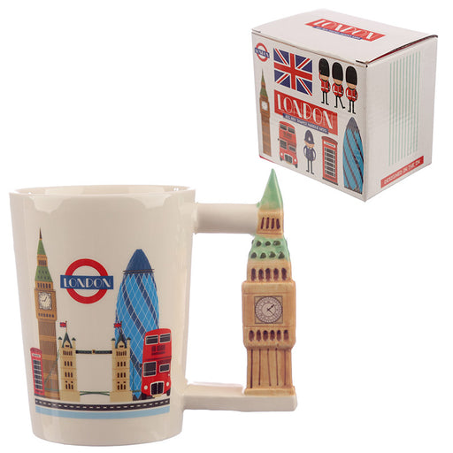 Big Ben London Icons Ceramic Shaped Handle Mug from Pukkagifts.uk