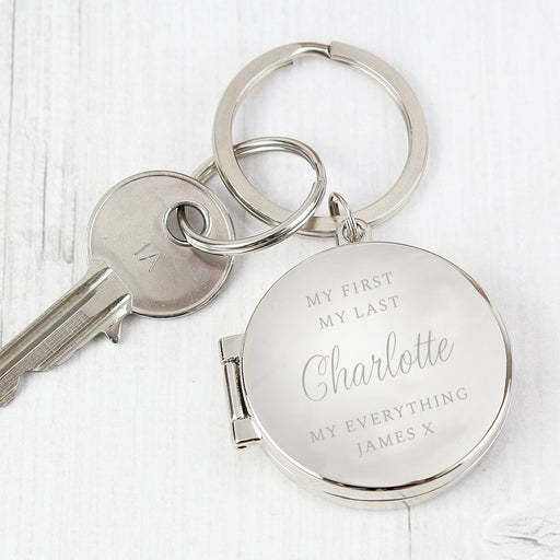 Personalised Classic Photo Locket Keyring