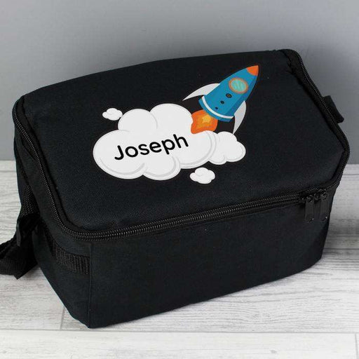 Personalised Kids Rocket Lunch Bag from Pukkagifts.uk