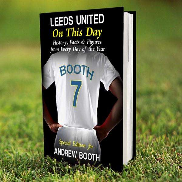 Personalised Leeds United On This Day Book from Pukkagifts.uk