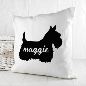 Personalised Scottish Terrier Silhouette Cushion Cover