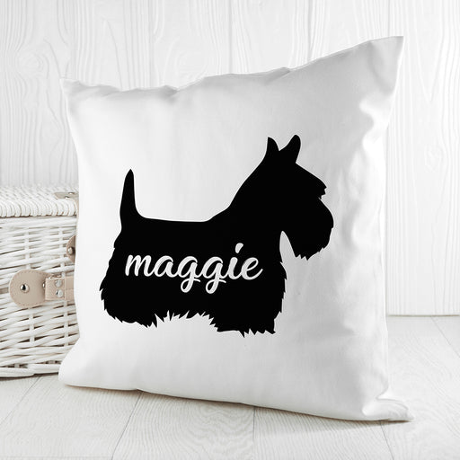 Personalised Scottish Terrier Silhouette Cushion Cover from Pukkagifts.uk