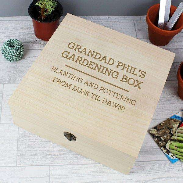 Personalised Any Message Large Wooden Keepsake Box from Pukkagifts.uk