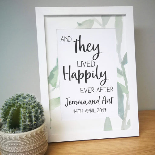 Personalised Happily Ever After A4 Framed Print