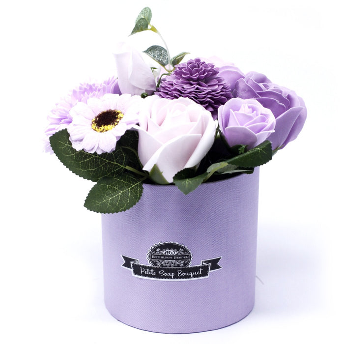 Soap Flower Bouquet Petite Gift Pot - Soft Lavender