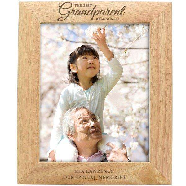 Personalised 8x10 ' The Best Grandparent' Wooden Frame from Pukkagifts.uk