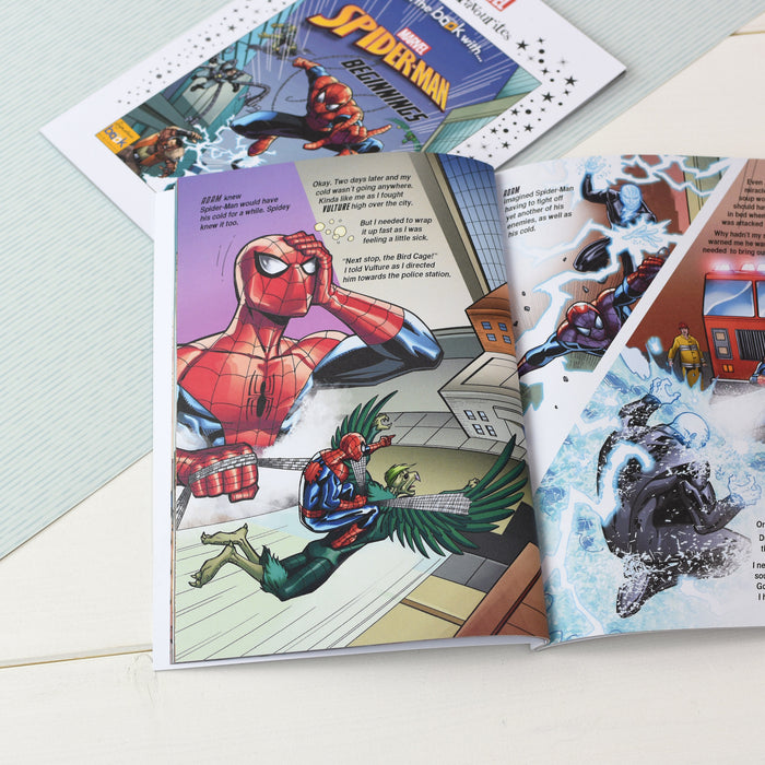 Personalised Marvel Little Favourites Spider-Man Beginnings Book from Pukkagifts.uk