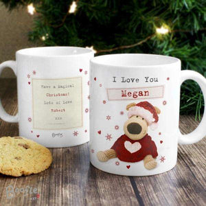 Personalised Boofle Christmas Love Mug from Pukkagifts.uk