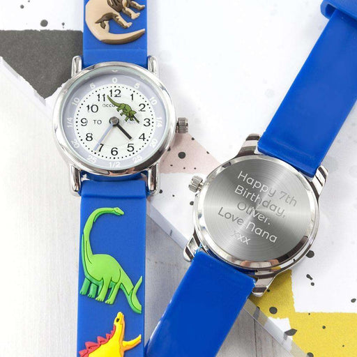 Personalised Dinosaur Watch from Pukkagifts.uk