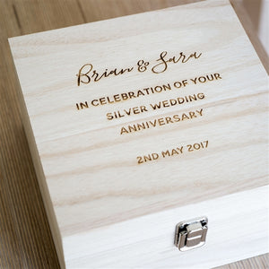 Personalised Wooden Keepsake Box | Wedding Gift | Anniversary Gift