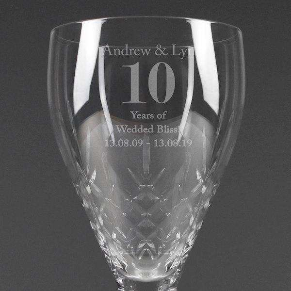 Personalised Special Occasion Cut Crystal Wine Glass from Pukkagifts.uk