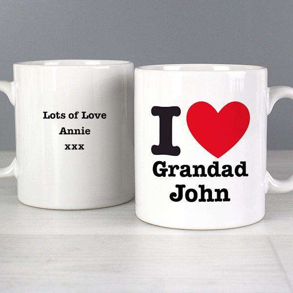 Personalised I LOVE Mug from Pukkagifts.uk