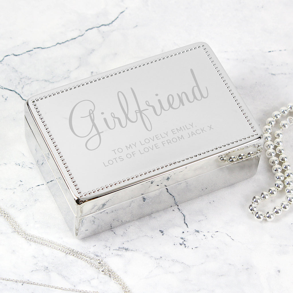 Personalised Rectangular Jewellery Box - Free UK Delivery