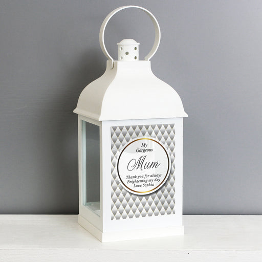 Personalised Opulent White Lantern