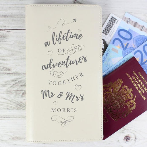 Personalised A Lifetime Of Adventures Together Mr & Mrs Travel Document Holder from Pukkagifts.uk
