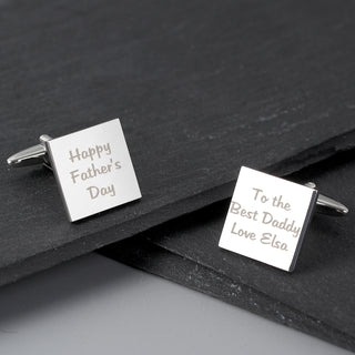 Personalised Square Cufflinks With Box