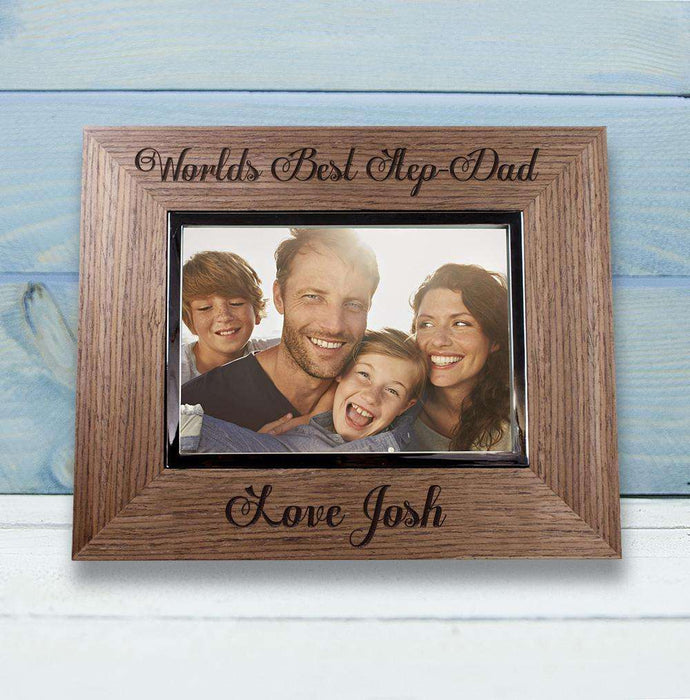 World's Best Step Dad Wooden Photo Frame from Pukkagifts.uk