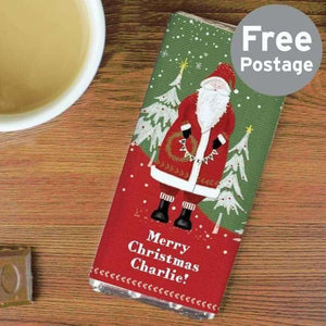 Personalised Father Christmas Milk Chocolate Bar from Pukkagifts.uk
