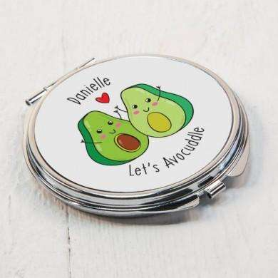 Let's Avo-Cuddle Personalised Compact Mirror from Pukkagifts.uk