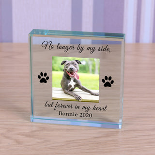 Personalised Dog Memorial Glass Token - Forever In My Heart