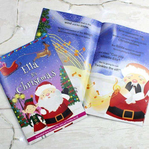 Personalised Girls It's Christmas Story Book Featuring Santa and his Elf Twinkles from Pukkagifts.uk