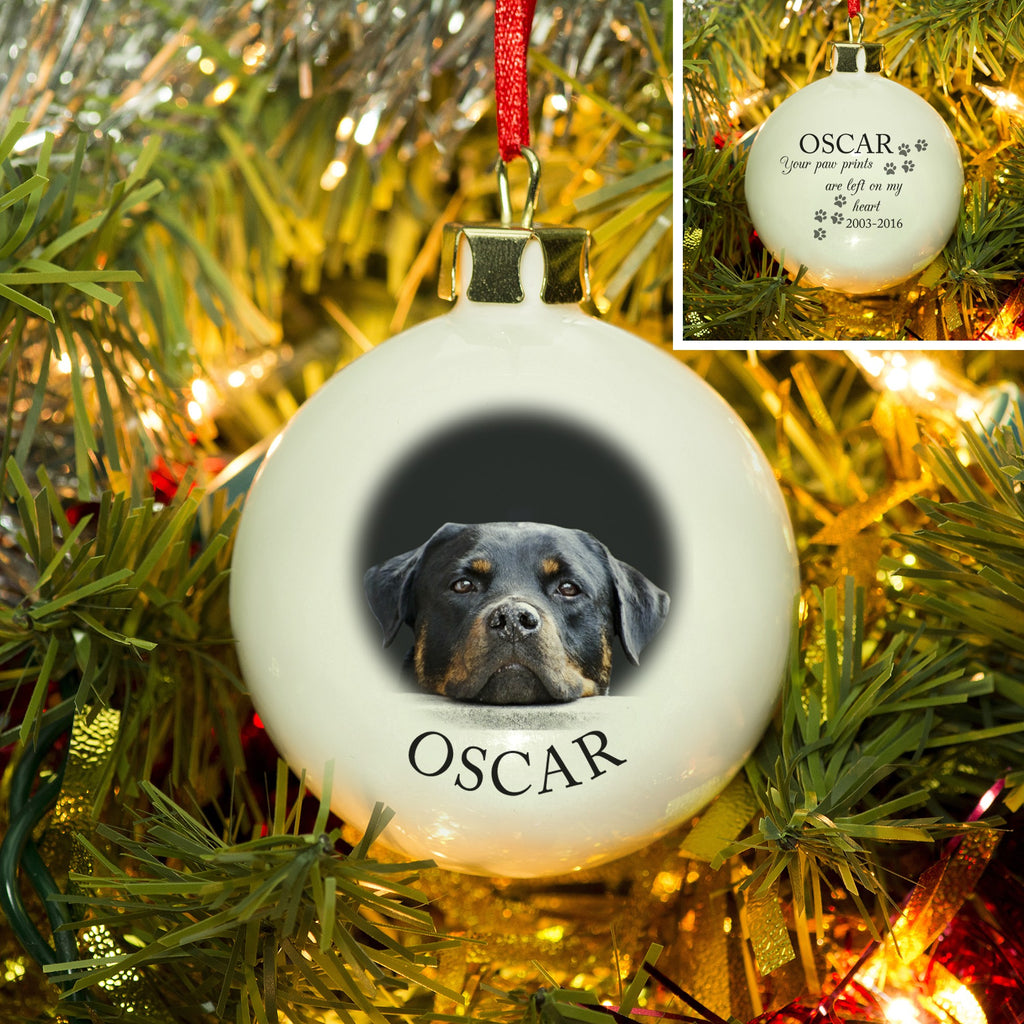 Personalised Pet Memorial Photo Bauble from Pukkagifts.uk